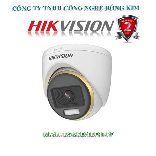 Camera Dome 4 in 1 2.0 Megapixel HIKVISION DS-2CE70DF3T-PF