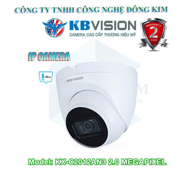Camera ip kbvision 2.0MP KX-C2012AN3