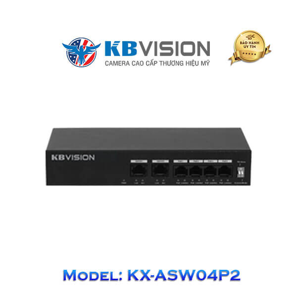 Switch Poe Kbvision 6 Port KX-ASW04P2